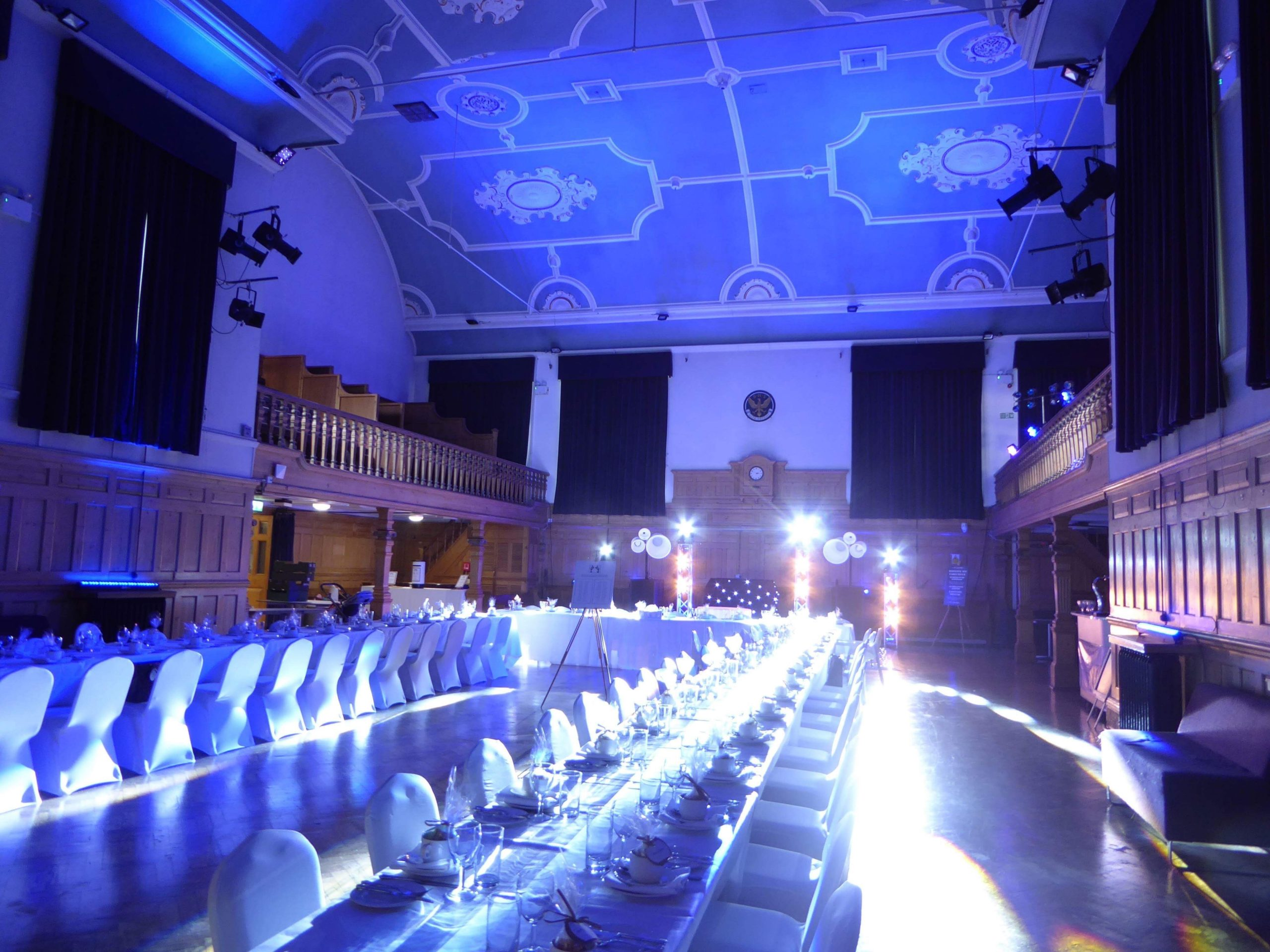 Wedding Lighting in a large venue