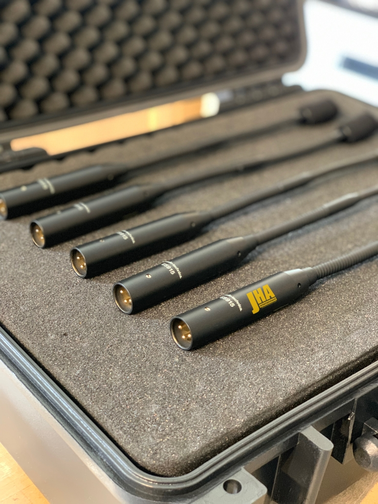 Microphones in case